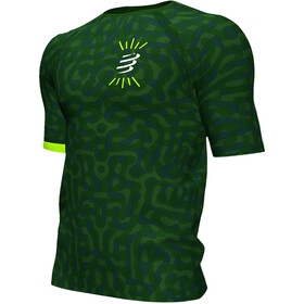 Compressport Training Kurzarm T-Shirt Camo Neon 2020 Herren jungle green